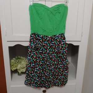 Sweetheart strapless dress w pockets